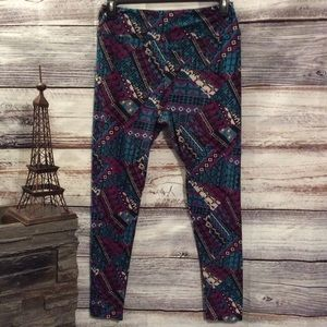 LulaRoe Dark Geometric Printed Leggings
